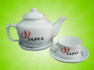 Bộ ấm chén in logo Japfa