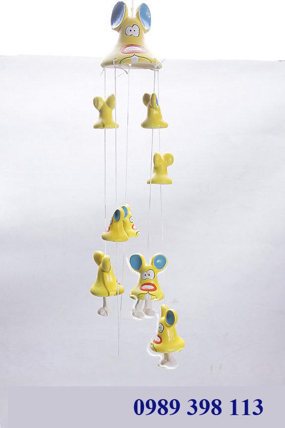 chuông gió hình chuột vàng