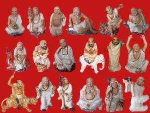 Bộ tượng 18 Vị La Hán cao 25cm