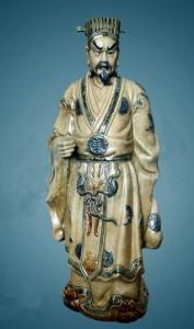Tượng gốm sứ Khổng Minh