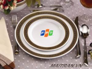 Đĩa sứ in logo FPT