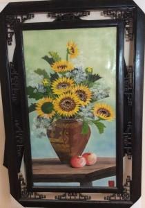 Tranh sứ vẽ hoa hướng dương