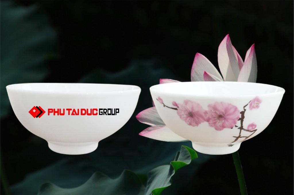 Bát ăn cơm in logo