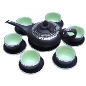 Bộ ấm trà aladin bọc đồng
