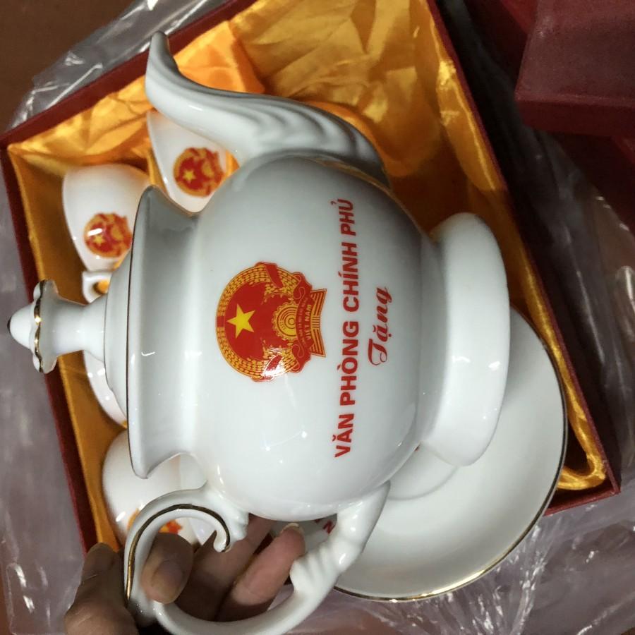 Bộ ấm chén in logo mẫu quà tặng sự kiện đại hội, quà tặng cho các cty
