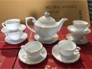 Bộ ấm trà Bát Tràng cup