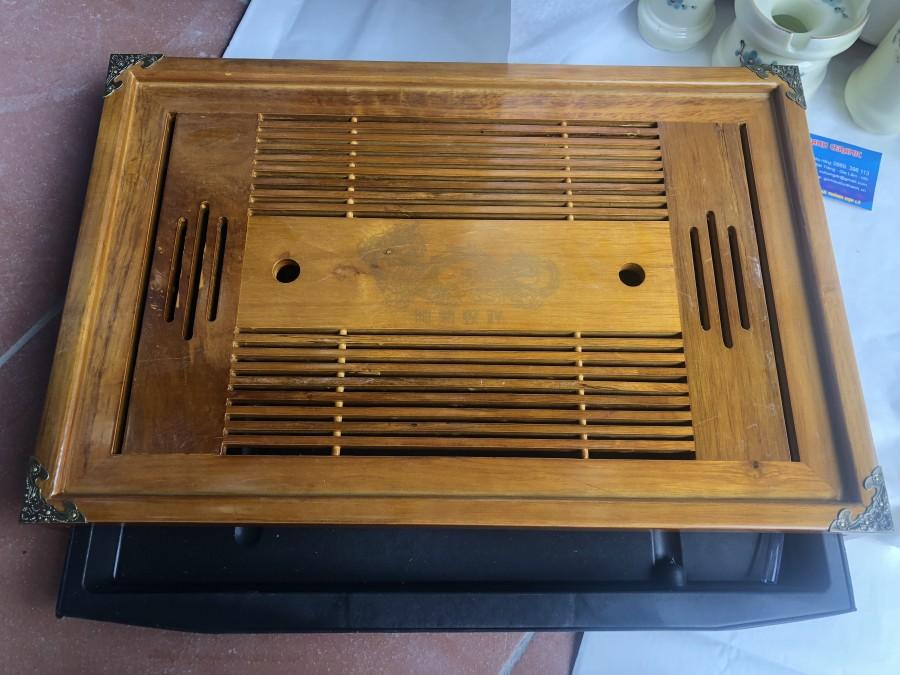 Khay ấm chén gỗ kt 50x35cm