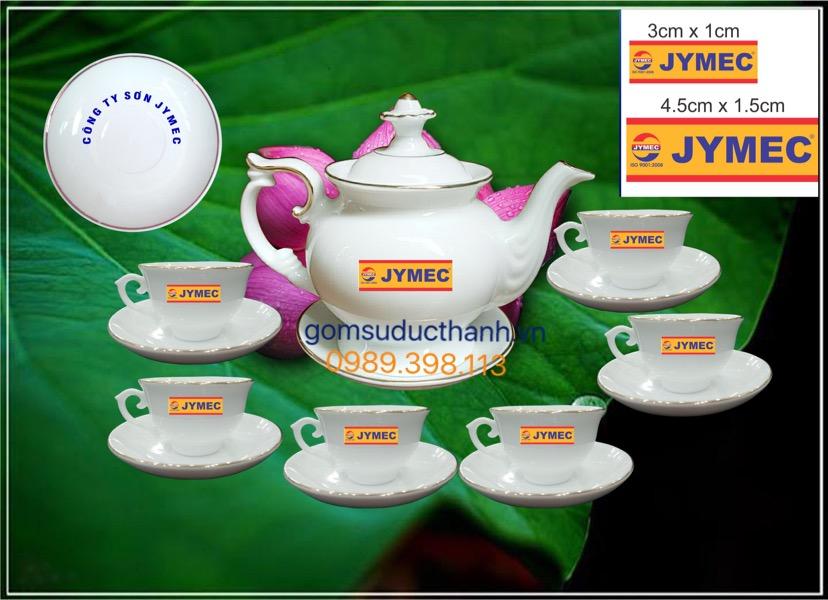 Bộ ấm trà in logo quà tặng phú quý 580ml