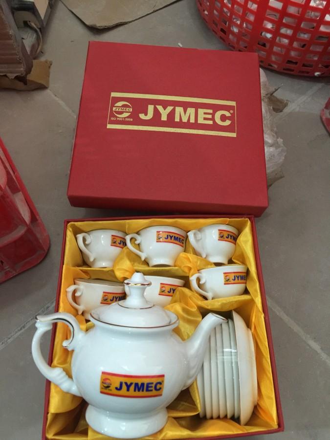 Bộ ấm trà in logo cty sơn jymec