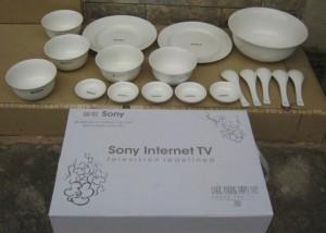 Bộ bát đĩa in logo Sony