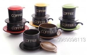 Bộ pha cà phê gốm sứ