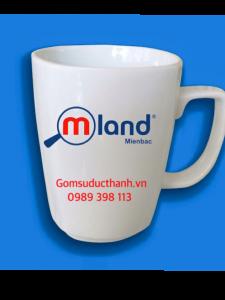 Cốc vuông in logo mland