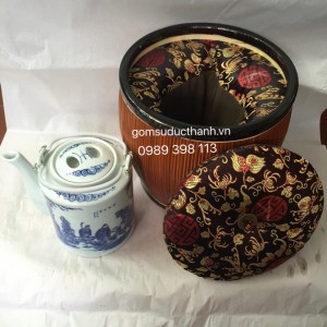 Bộ ủ trà hoa gấm cao cấp