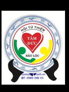 Đĩa sứ kỉ niệm in logo