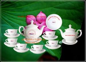 Bộ ấm trà phú quý Bát tràng