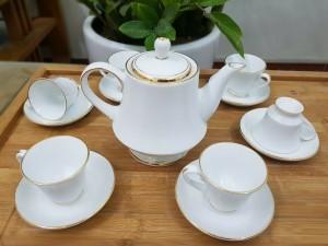Bộ ấm trà hoàng gia chỉ viền