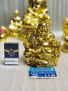 Tượng Phật Di Lặc dát vàng